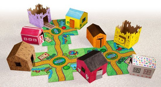The perfect imagination-starters for young city planners!  Easy Playtown provides kids with hours of creative play, with small-scale buildings that let them reproduce their favorite places from story books and the cities they live in.